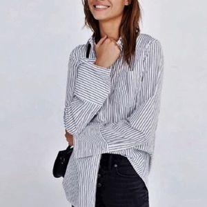 MADEWELL Bristol Stripe Oversized ButtonDown Shirt